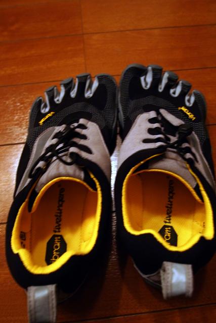 つっても無理なので、最近はこの靴(靴かこれ?)で裸足走りをしています。原始人みたいに走れるよ。