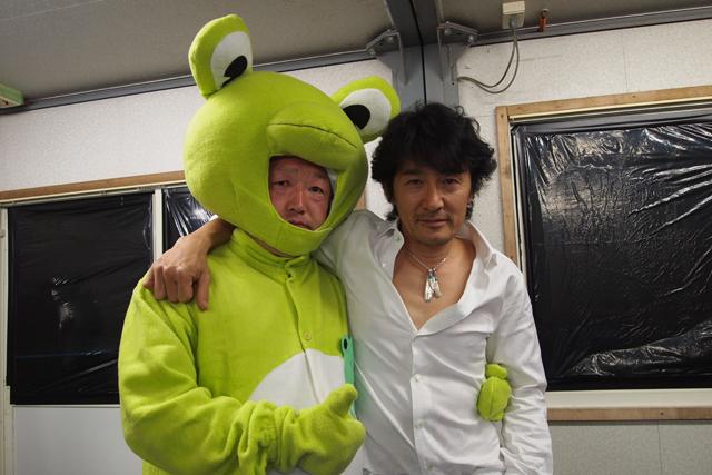 相馬本部長とステージで挨拶しました。