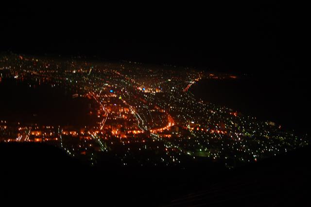 speechless tourのとき、まったく見えなかった函館の夜景。今夜はばっちり見えましたよ。