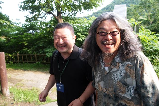 青森から駆けつけた悪友ヒロシと相馬本部長モリタ。