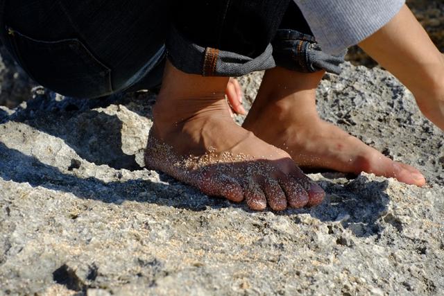 砂がね、サンゴでできてた。