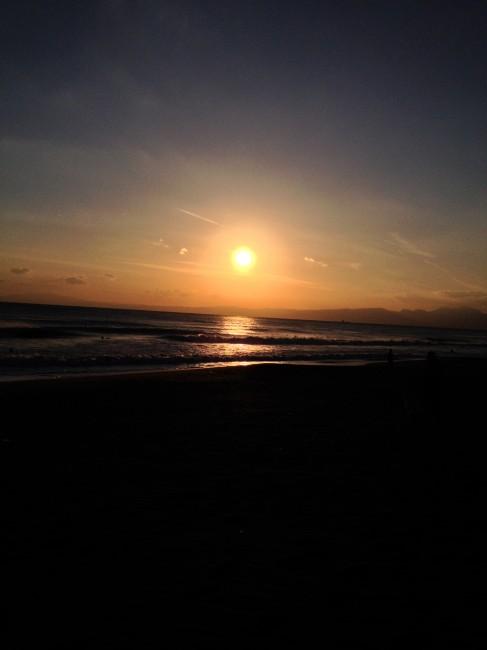 最近は夕陽の時間に合わせて走ってるような。帰りが寒いんだけどね。