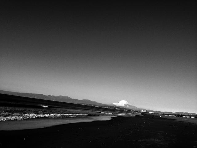 日本晴れ。富士山マックス。考えてみれば、北斎が描いた風景と変わってないのよ。