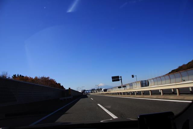 富士山がばっちり見えるくらい晴れていた。