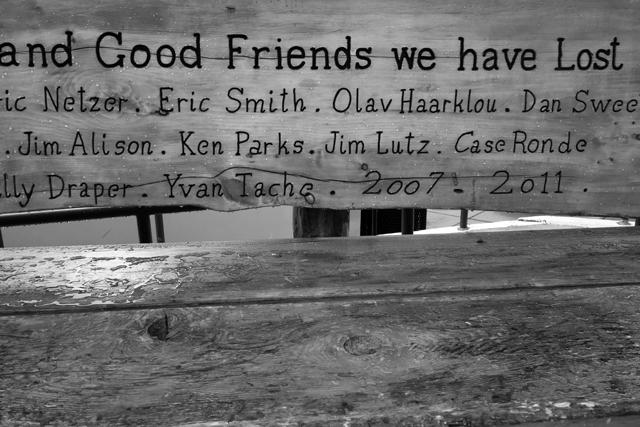 and good friends we have lost / この山で亡くなった人たちです。