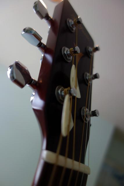 まだぜんぜん弾けないけど、ギターの感触だけは忘れないようにね。