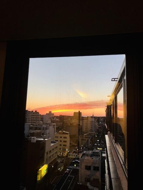日本海に映える夕焼け