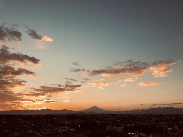 本日の富士山。